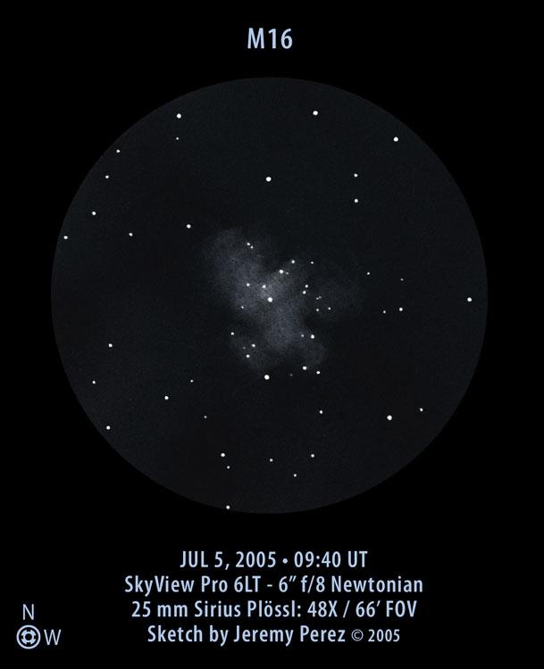 VCSE - Mai kép - Messier 16 - Jeremy Perez