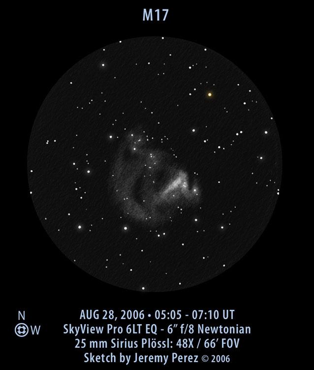 VCSE - Mai kép - Messier 17 - Jeremy Perez