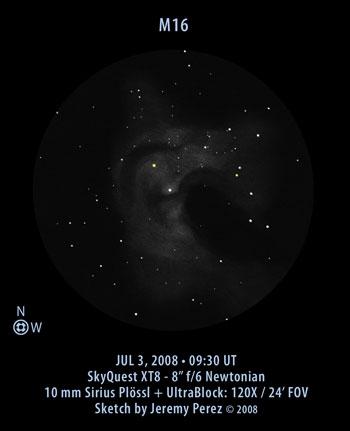 VCSE - Mai kép - Messier 16 rjaz - Jeremy Perez