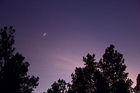 Conjunction: Moon, Venus and Jupiter - Belt of Venus