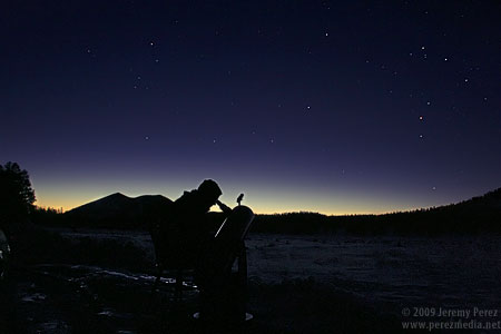 Dawn observing at Sunset Crater National Monument