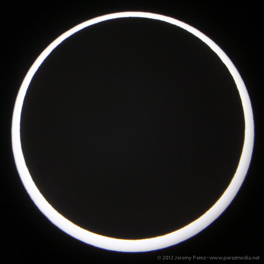 White Light Annular Eclipse