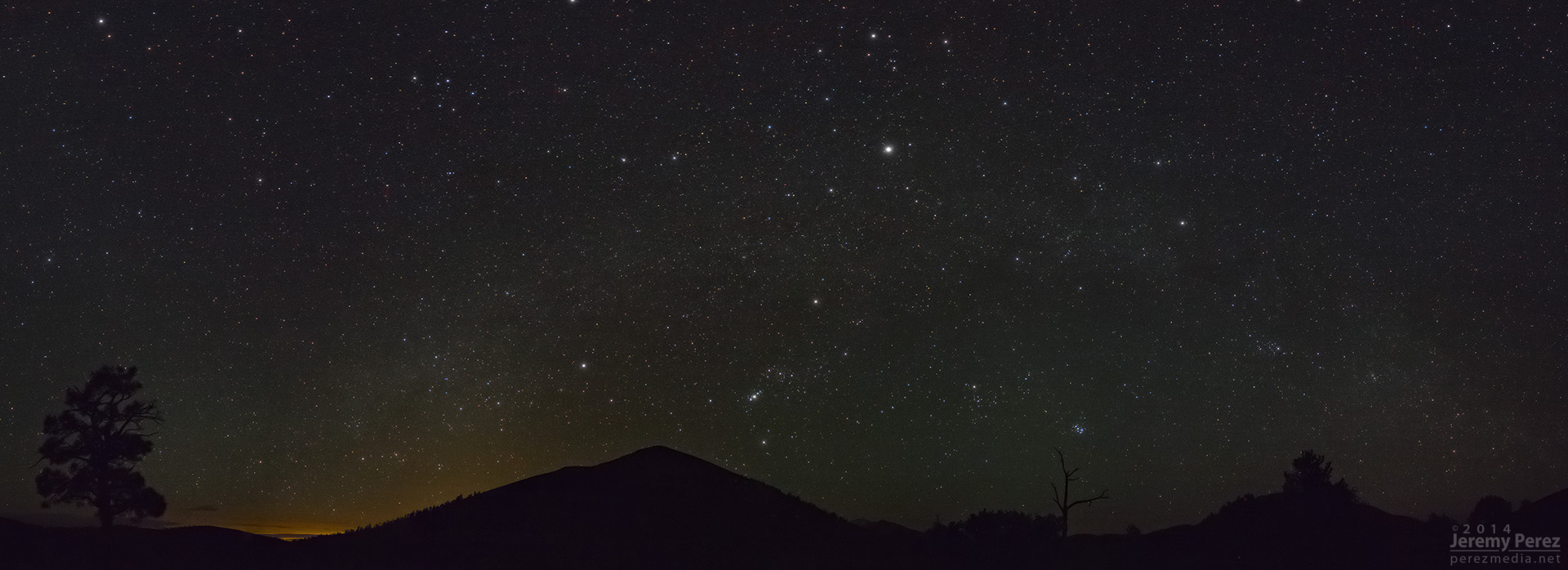 Night Lights over Sunset Crater