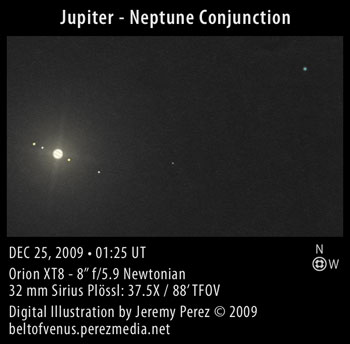 Digital Illustration: Jupiter-Neptune Conjunction