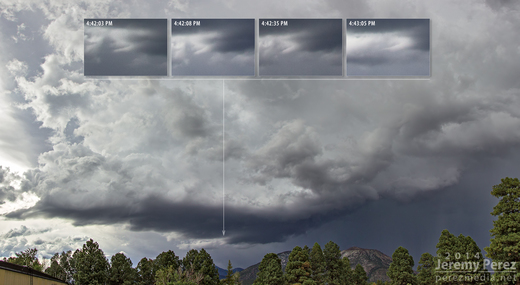 Flagstaff Storm Structure and Possible Funnel - July 8, 2014