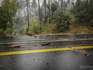 Flash flood debris on Highway 89 just south of Prescott (Had already pulled the huge log out of the road at this point). 2:56 PM / 2156Z
