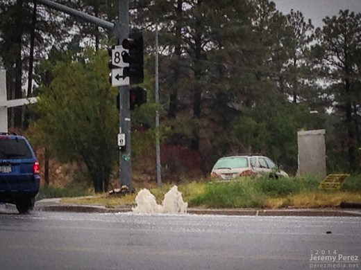 Overloaded storm drain in Prescott. 3:04 PM / 2204Z