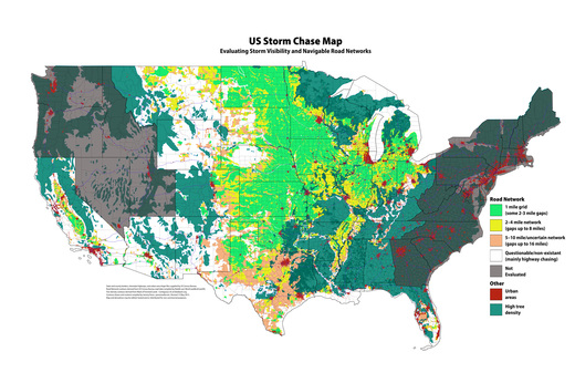 US Chase Map 15 May 2015 - with forest