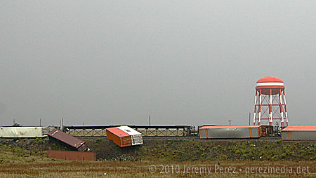 Train derailment at Bellemont
