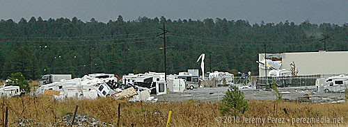 RV Lot and Building Damage